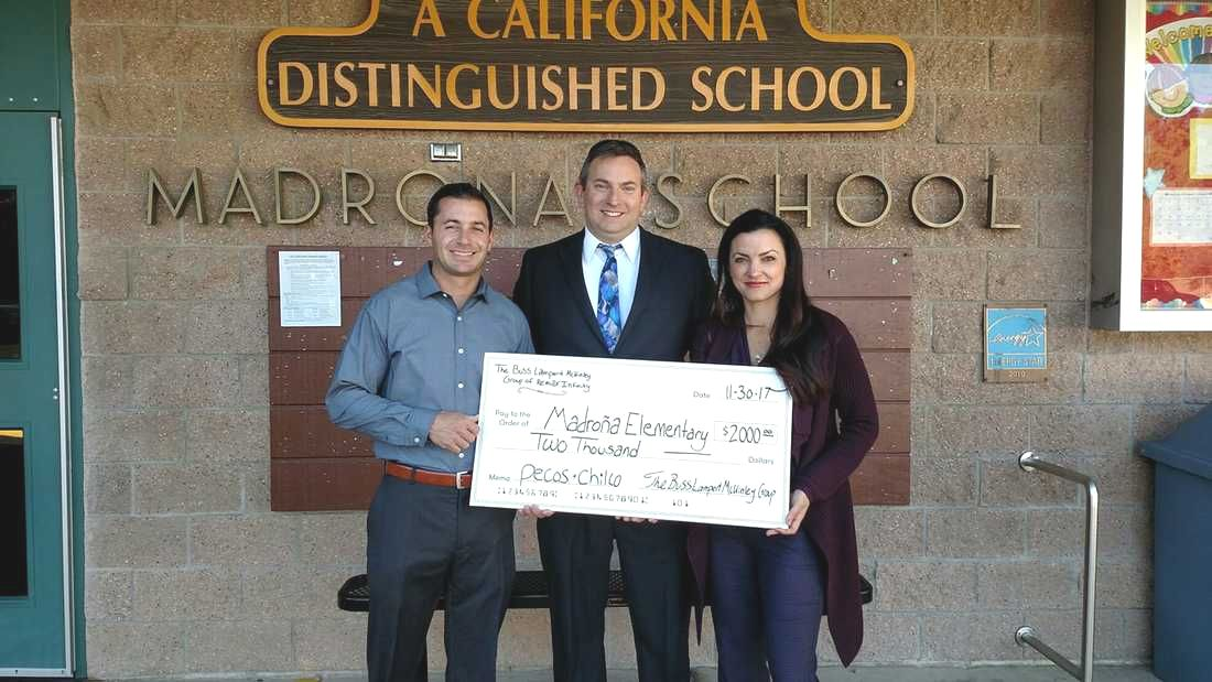 The Buss Lampert McKinley Group Donates $2000 to Madrona Elementary School in Thousand Oaks
